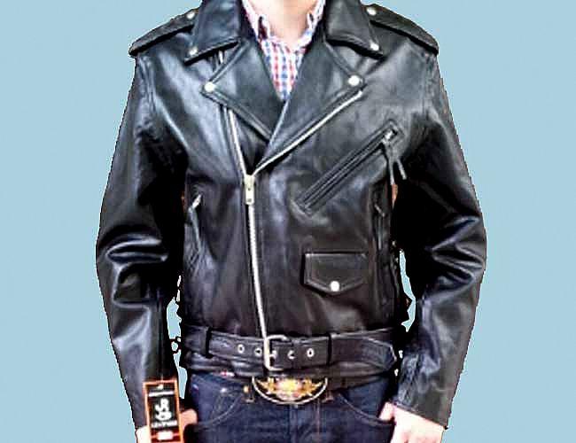 jr greaser leather jacket rockabilly lederjacke. Black Bedroom Furniture Sets. Home Design Ideas