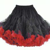 Petticoat Swing schwarz rot Hell Bunny