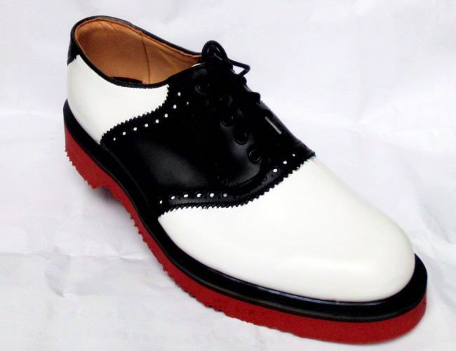 Saddle Oxford  Blck Lea