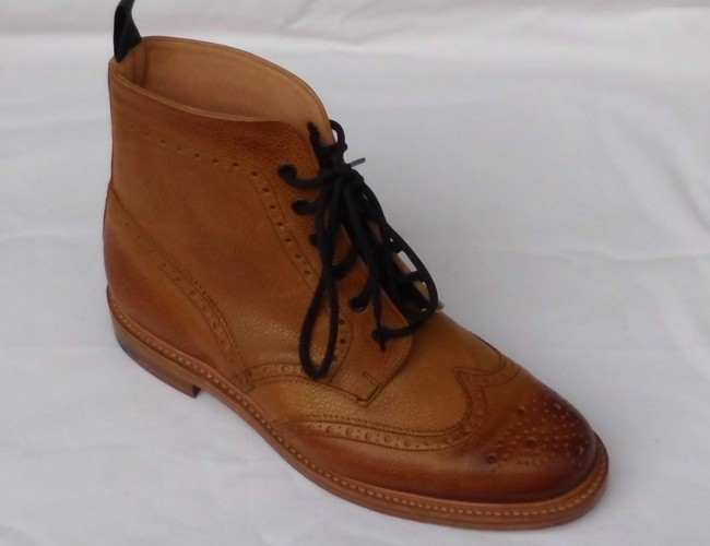 6-Loch, Honey Grain Leather Boot